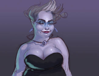 Ursula sketch by johnnyrocwell