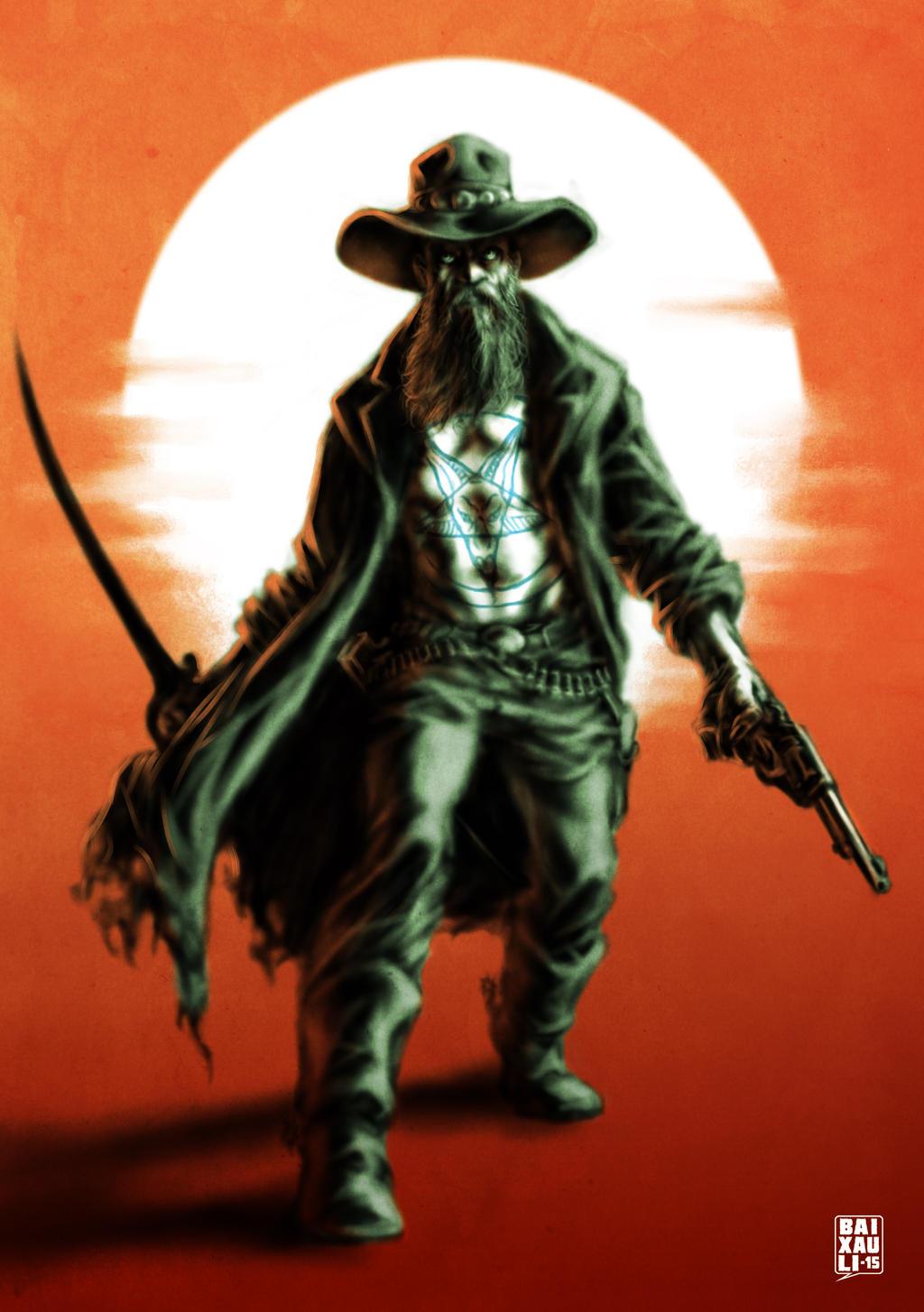 Weird Western Character by BAI-XAU-LI