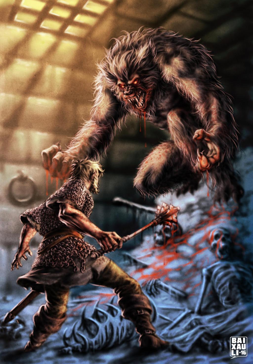 Burkran: The Lycanthrope by BAI-XAU-LI