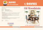 Oil Wood Stain Brochure cover