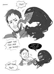 Eddie and Venom by SenlitheringMe