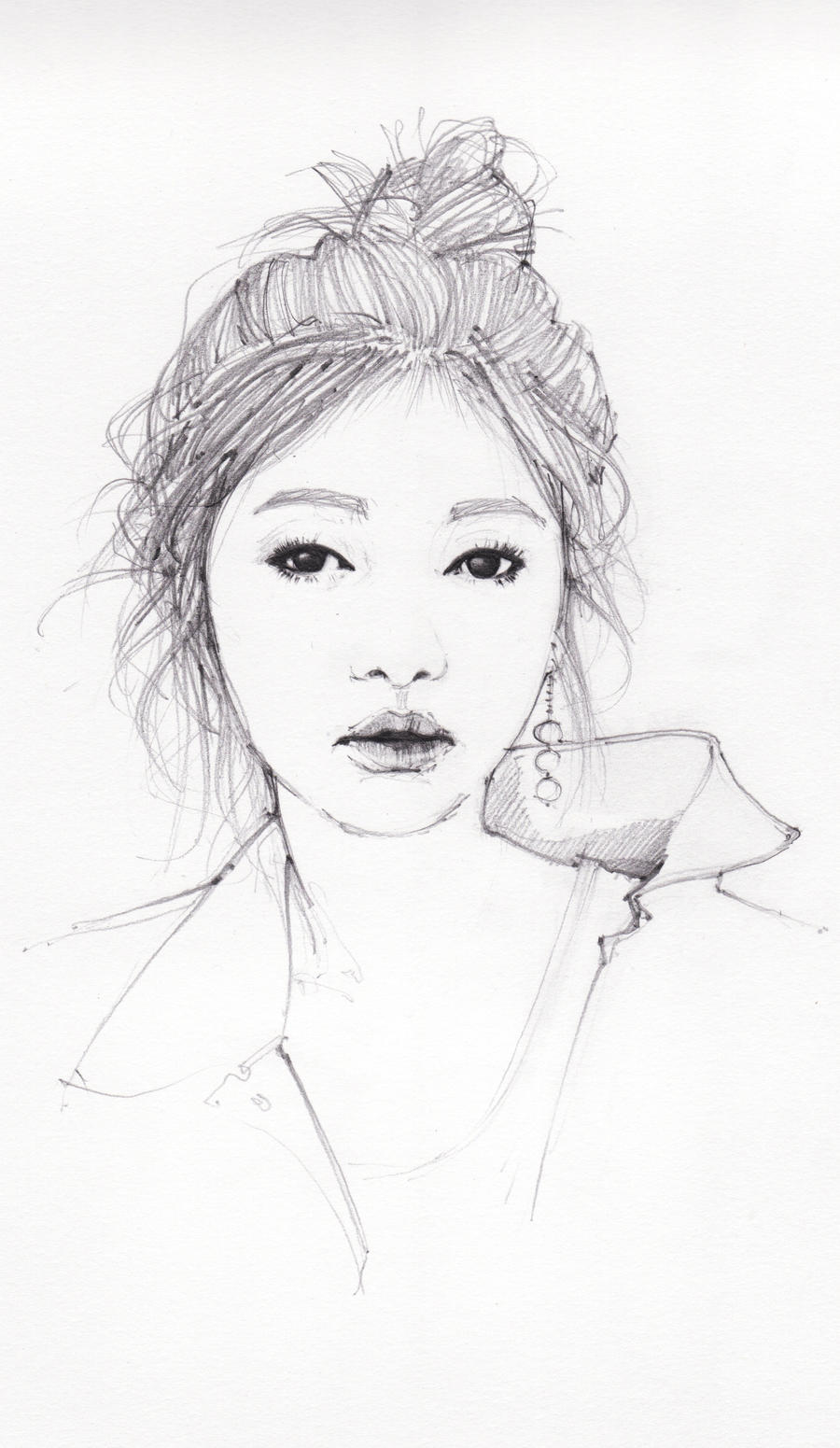 sketch Jung So Min by dreamsCrEaToR