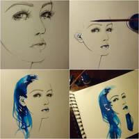 blue-ink tutorial