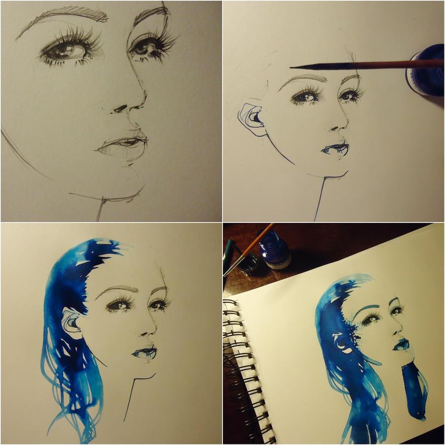 blue-ink tutorial by dreamsCrEaToR