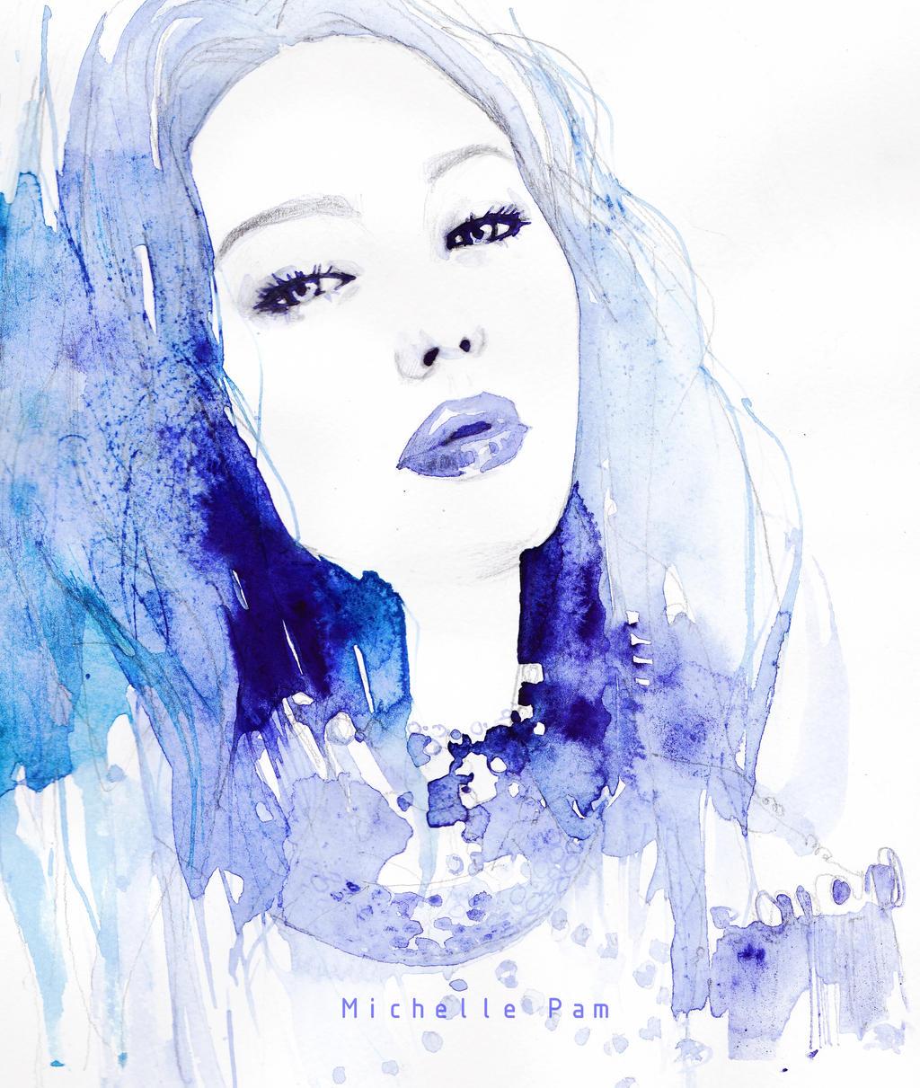 Jennifer Lawrence in blue by dreamsCrEaToR