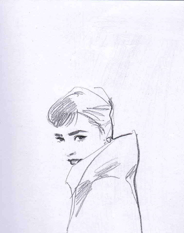 Lines-Audrey Hepburn by dreamsCrEaToR