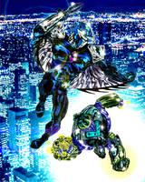 Darkhawk vs. Savage Steel by StevenVnDoom