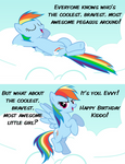 Rainbow Dash Birthday Card by cheezedoodle96