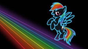 Neon Dash Wallpaper