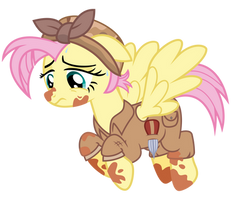 Crystal War Fluttershy by cheezedoodle96
