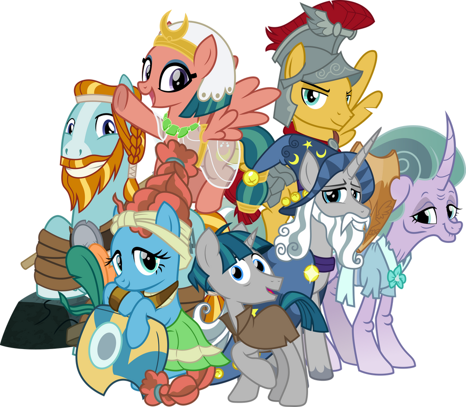 The Original Mane Seven by cheezedoodle96
