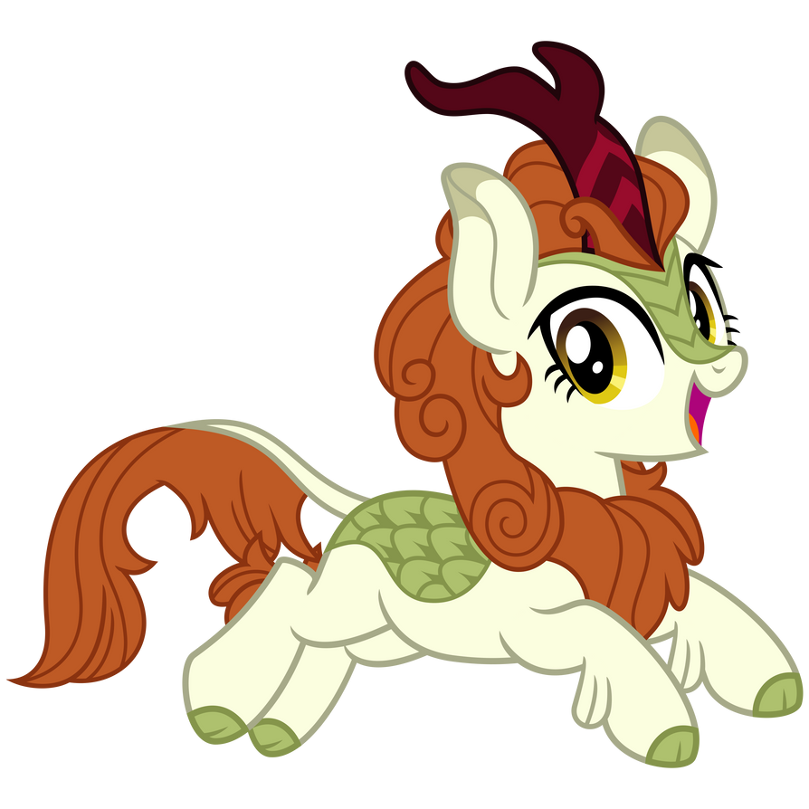 Autumn Blaze, Leaping Pose by cheezedoodle96
