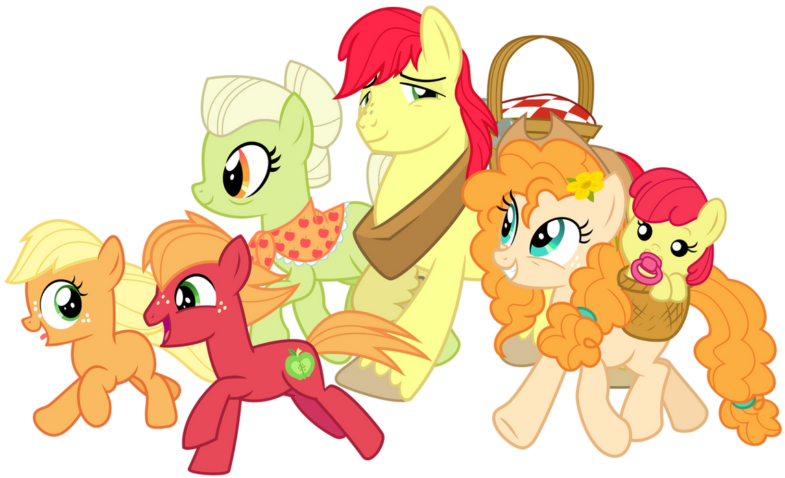 apple_family_picnic_by_cheezedoodle96_dd