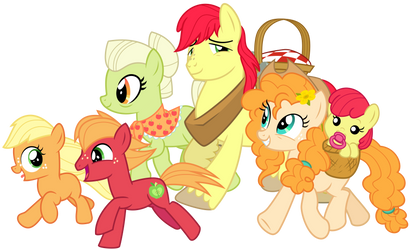 Apple Family Picnic by cheezedoodle96