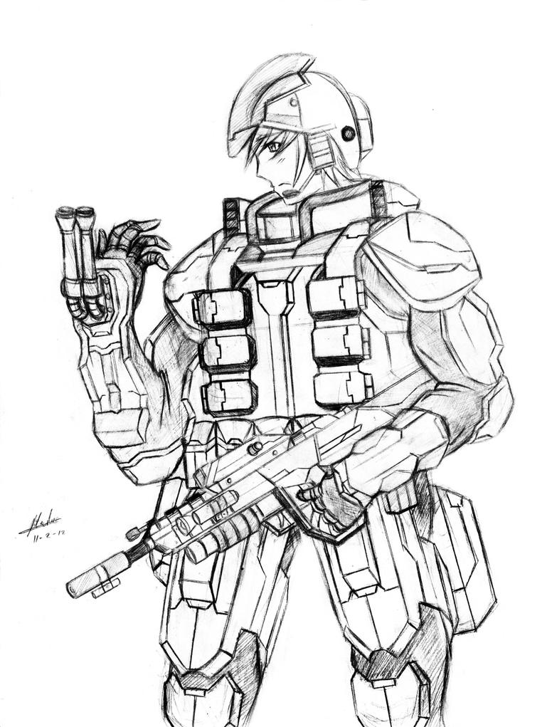Future Soldier Pin Up Only By Rtadeo Anime On Deviantart