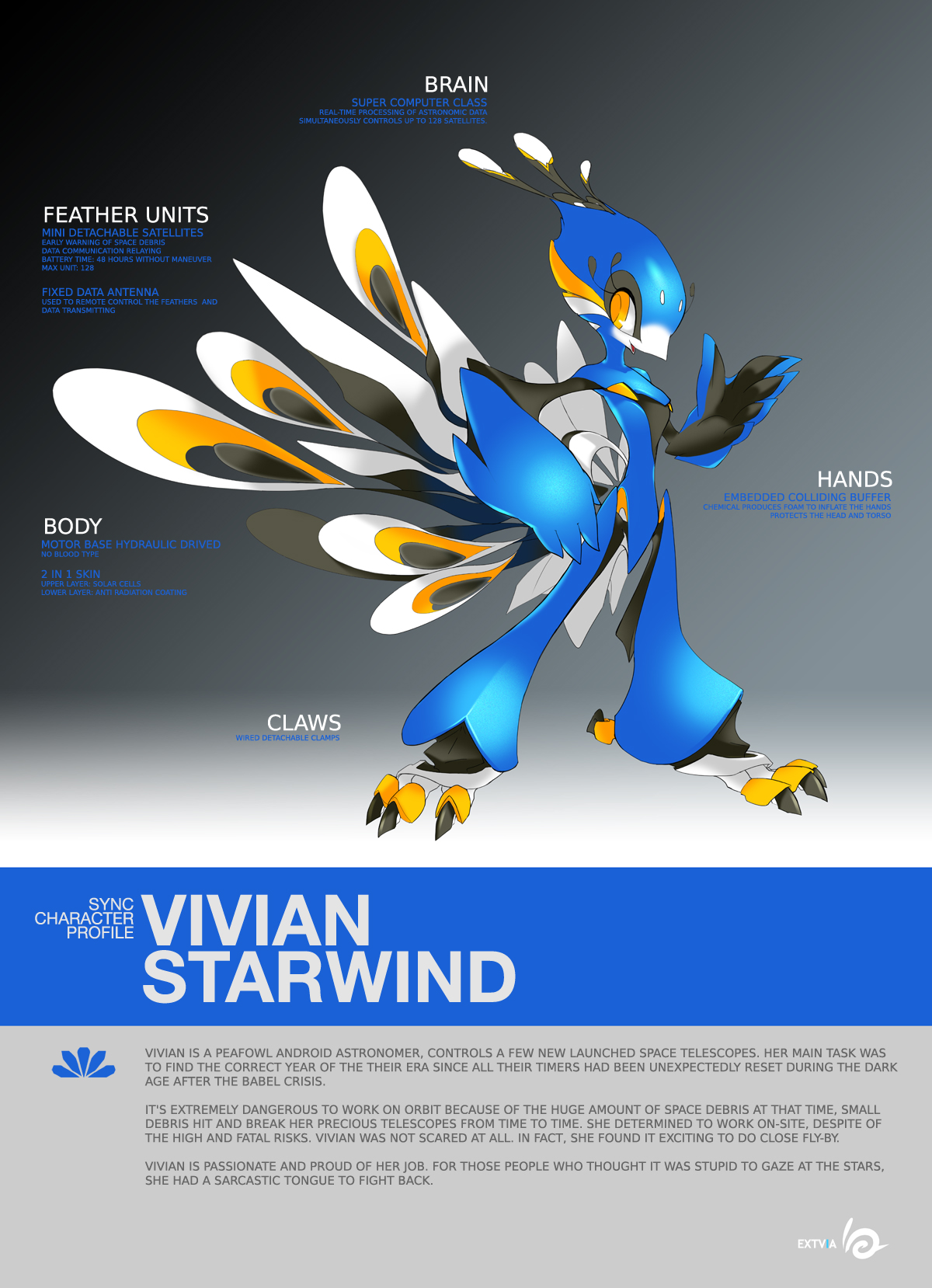 SYNC: Vivian the Robot Peafowl by TysonTan