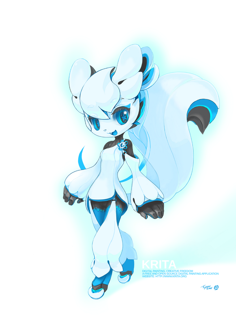 The Krita Mascot by TysonTan