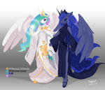 Princess Celestia and Princess Luna by TysonTan