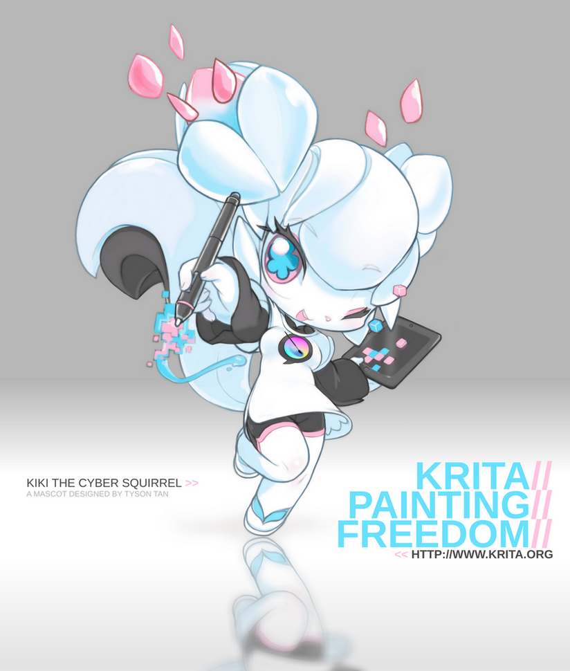 Character Design Krita : Kiki the cyber squirrel by tysontan on deviantart