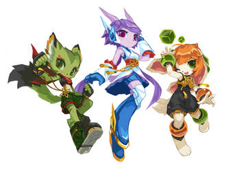 Freedom Planet 2 Girls ver 2 by TysonTan