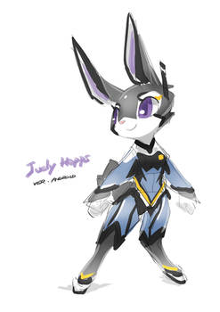 Judy the android cop