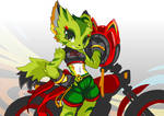 Freedom Planet 2 art experiment of Carol by TysonTan