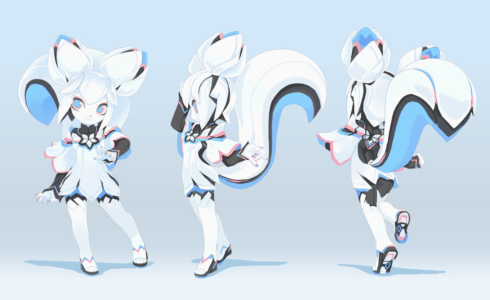 Character Design Krita : Kiki s plastic model kit design sheet by tysontan on