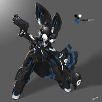 SYNC: Azure the Robot Rabbit by TysonTan