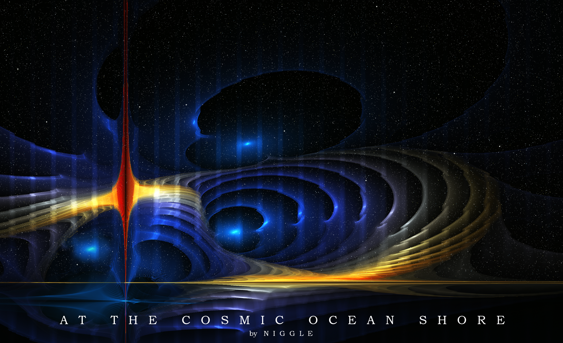 At the cosmic ocean shore. by Ni66le
