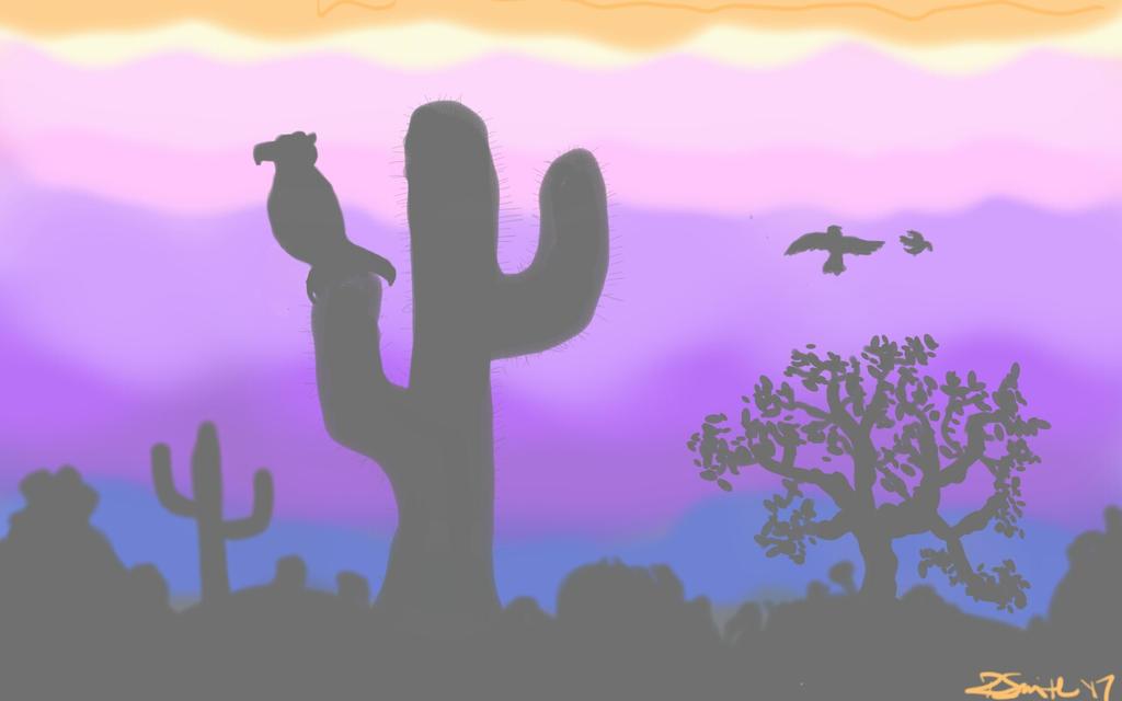 Desert silhouette by Rachel1972