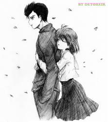 Commission: Yusuke and Keiko by Detoreik