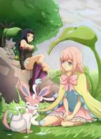 C: Soula and Akemi by Detoreik