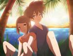 Taichi and Hikari _ Summer