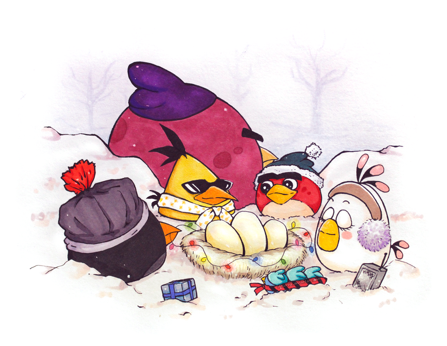 angry birds christmas by detoreik - Christmas Angry Birds