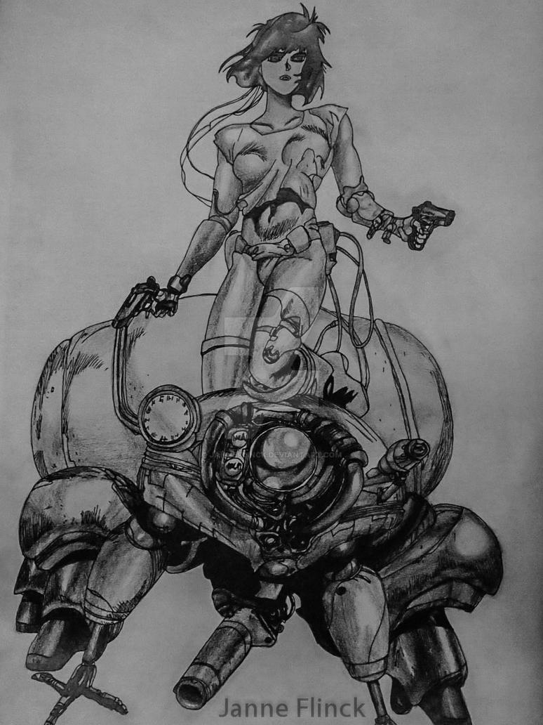 Ghost In The Shell Drawing By JanneFlinck