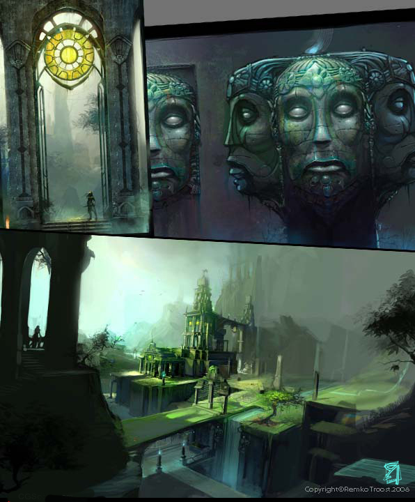 Lost library concepts by Okmer