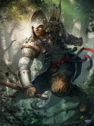 Cover ImagineFX N.89 , Assassin's Creed 3 by Okmer