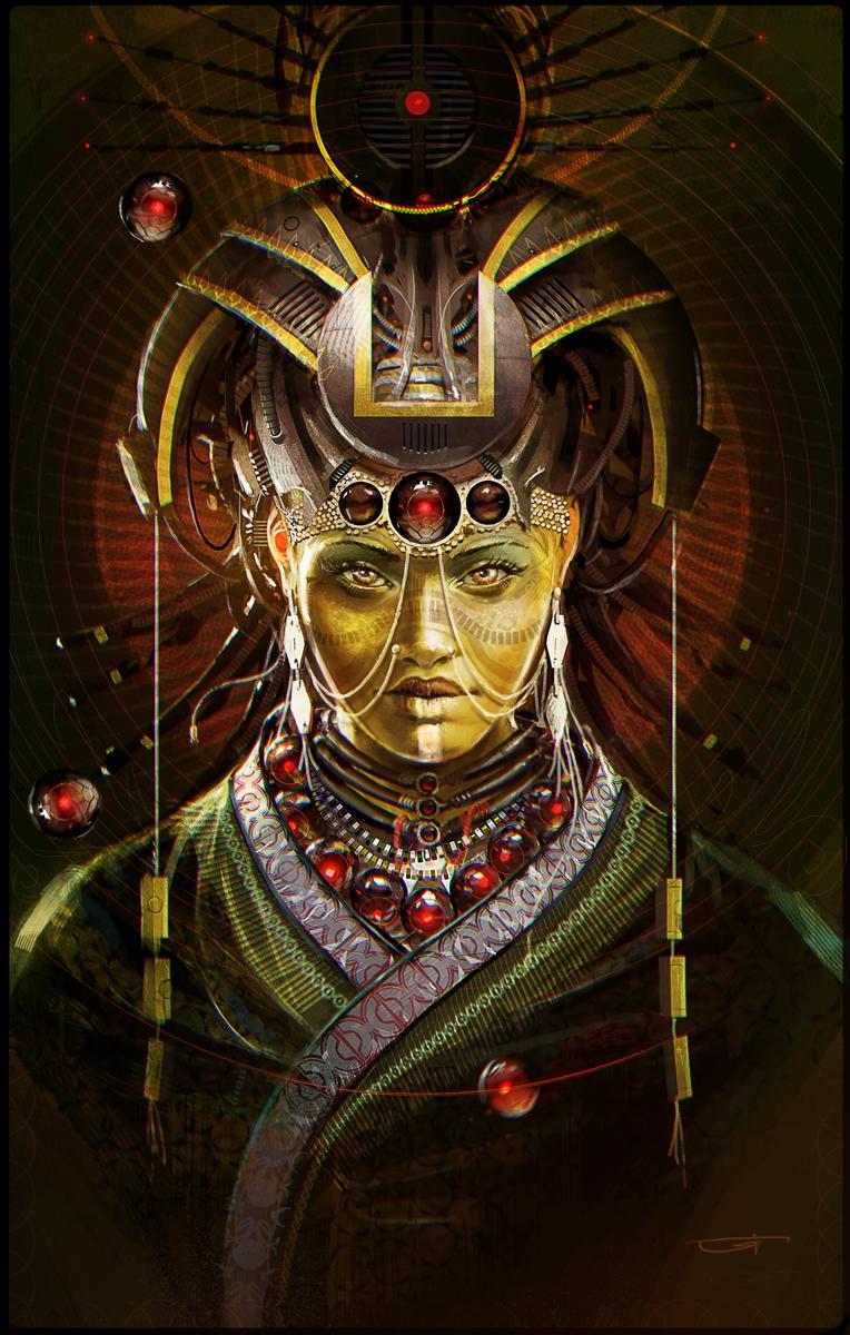 Scifi Priestress ImagineFX by Okmer