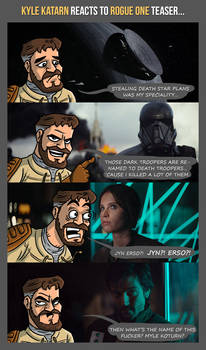 KYLE KATARN reacts to ROGUE ONE teaser...