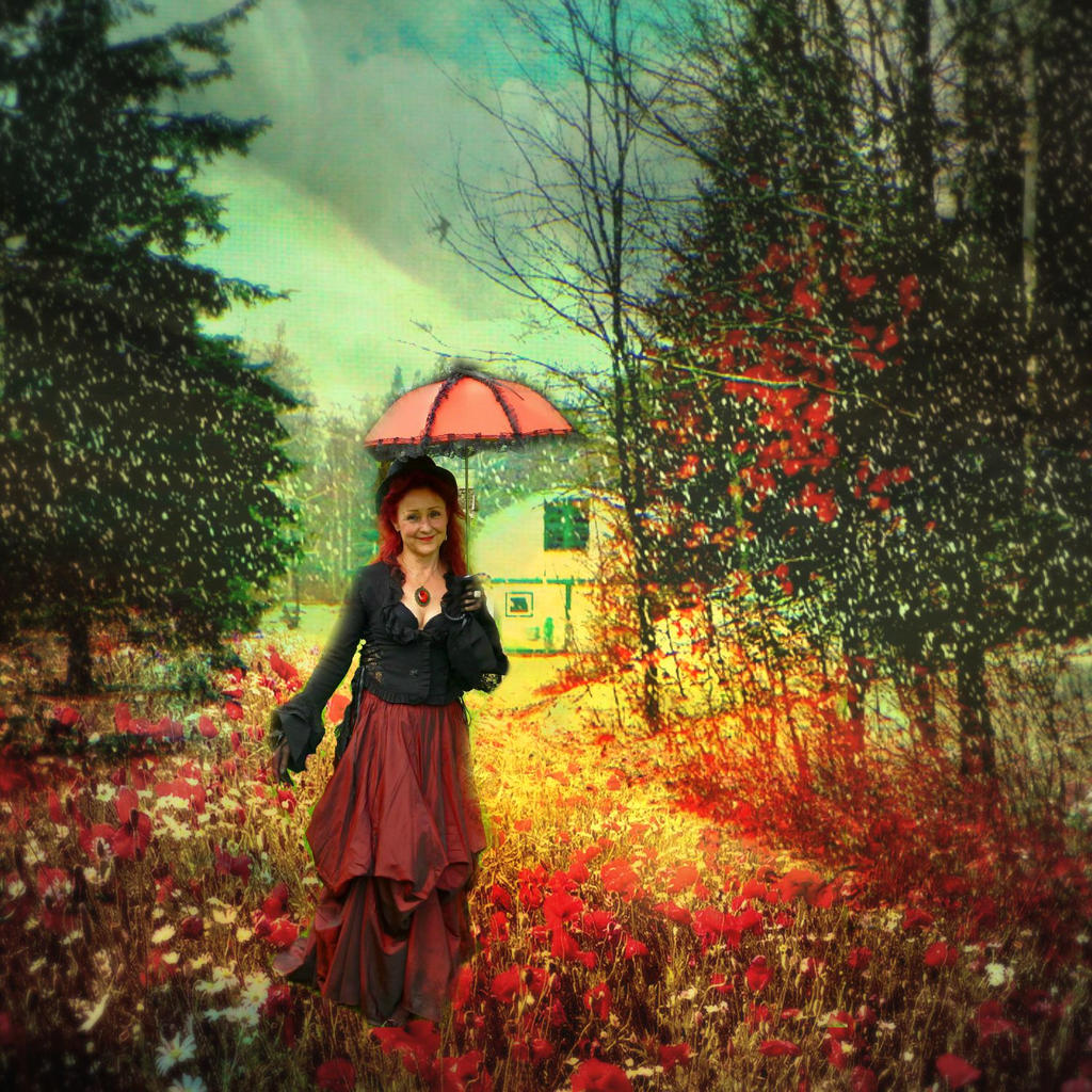 The Red Parasol by artistic-touches