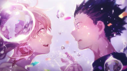 Koe no katachi wallpaper (coloring)