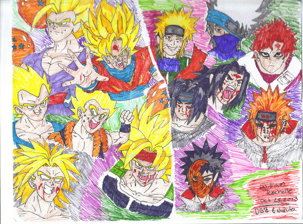 Dragon ball z v s naruto by willwhaterver on deviantart - Naruto and dragonball z ...