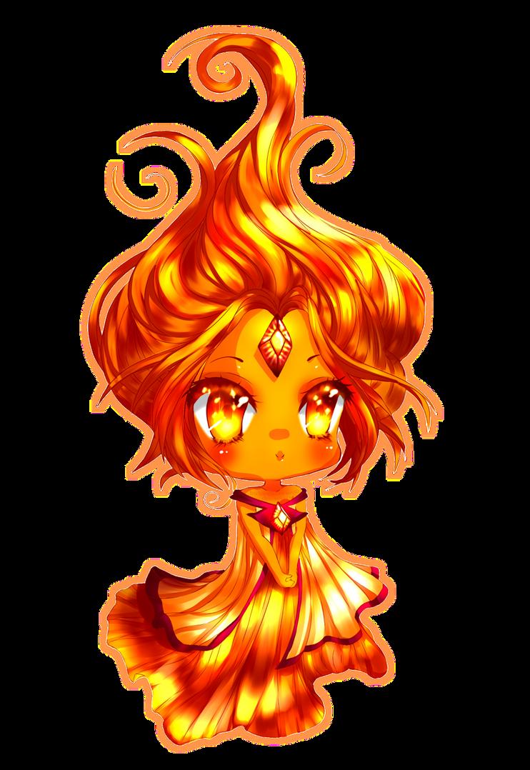 Flame Princess by Bubble-Crown