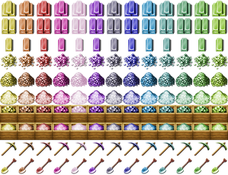 Re-Colored Metalbars, Tools/Gravel2 [RPG-Maker-MV] by petschko