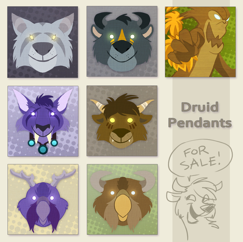 Druid Charms by doingwell