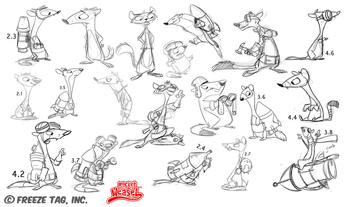 Rocket Weasel - Weasel concepts by doingwell