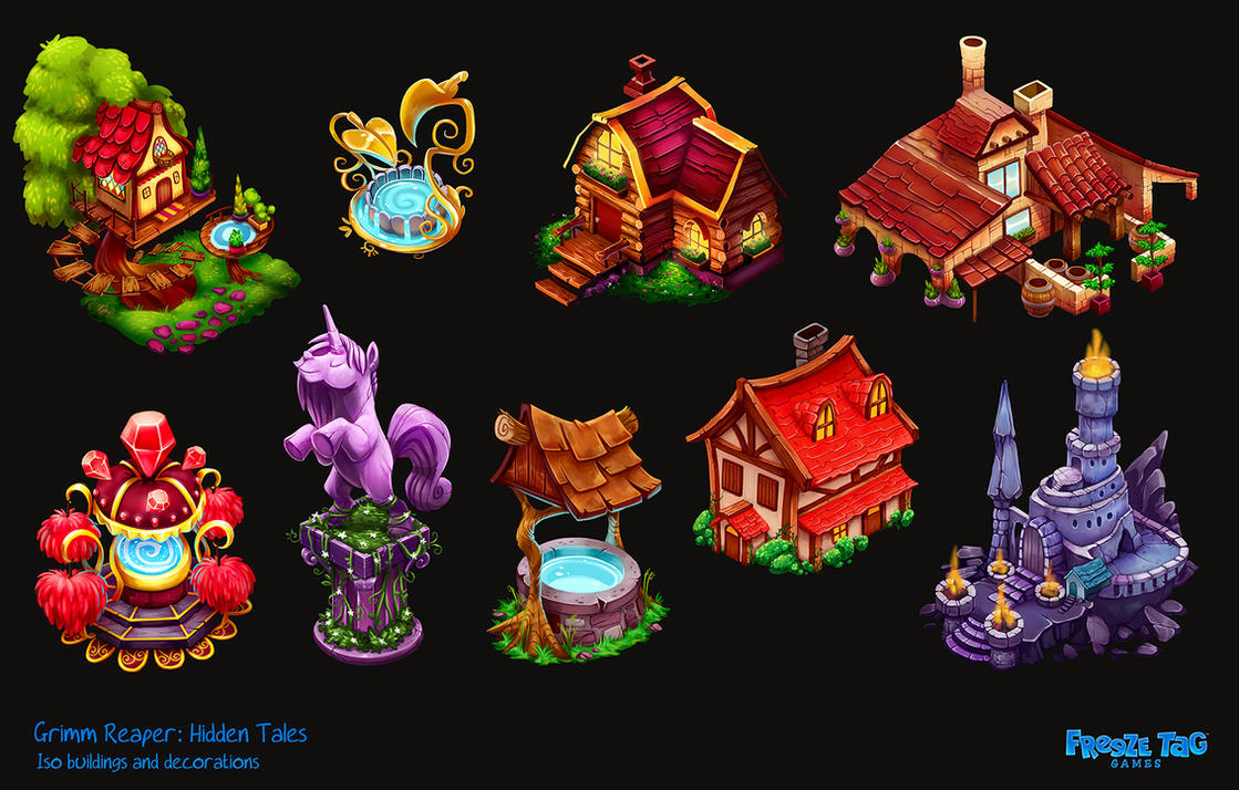 Grimm Reaper: Hidden Tales - new decorations by doingwell