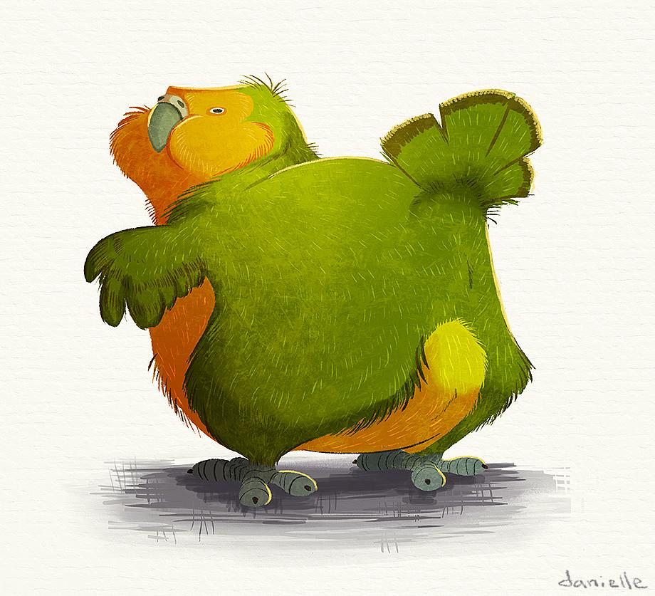 Kakapo Booty by doingwell on DeviantArt