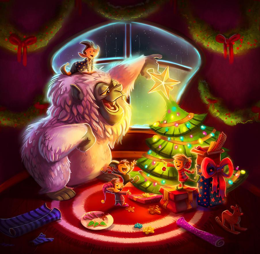 Yeti Christmas by doingwell on DeviantArt