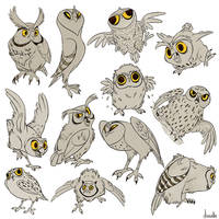 MANY OWLS HANDLE IT by doingwell